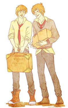 Weasley twins by viria13 on deviantART