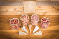 We have all heard of a Candy Bar, but what about a Confetti Bar. With very little effort you can design your own Confetti Bar to fit in with your theme that not only looks but smells amazing and is biodegradable too!