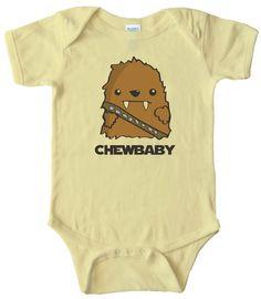 BABY ONESIE - CHEWBABY CHEWBACCA STAR WARS BABY: Amazon.com: Baby
