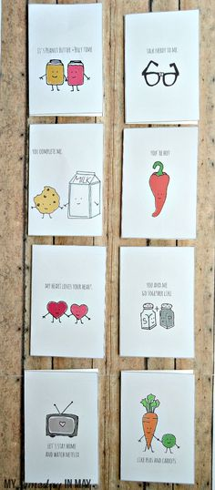 I like cards that make me laugh. I hate buying cards but when I do, I spend way too long in the card aisle reading all the funny ones. for boyfriend Quirky Love Cards Cute Gifts, Diy Gifts, Cute Puns, Pun Card, Funny Cards, Boyfriend Gifts, Diy Cards For Boyfriend, Homemade Cards, Hand Lettering