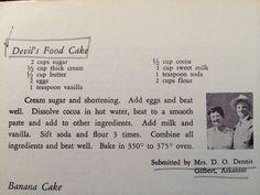 Grandma Dennis' Devils Food Cake