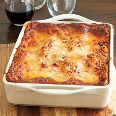 Vanessa's Make-Ahead Beefy Lasagna | A container of refrigerated pesto adds distinctive flavor to this basic beef-and-cheese lasagna, and the unbaked lasagna can be frozen for up to three months. | SouthernLiving.com