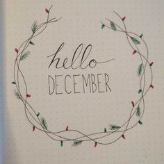Finally started a bullet journal! Here's my December intro page