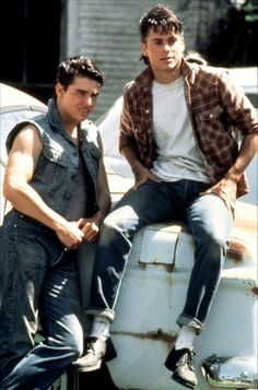 Tom Cruise and Rob Lowe in The Outsiders (1983)