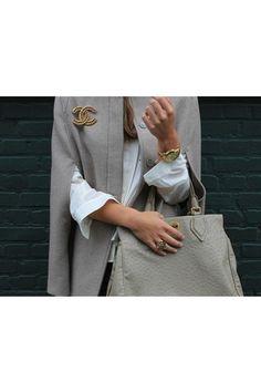 Ideas to Wear a Chanel Brooch-street style