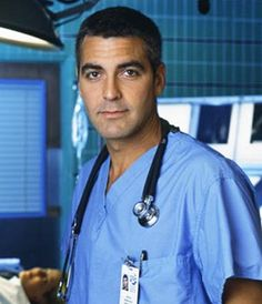 George Clooney in 'ER' as Dr. Doug Ross. Why did I start watching ER in the first place? This is why.
