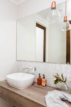 Emperor Series - Double Storey New Home Designs Dream Bathrooms, Beautiful Bathrooms, Small Bathroom, Bathroom Ideas, Interior Design Gallery, Home Interior Design, Henley Homes, Powder Room Design, Storey Homes