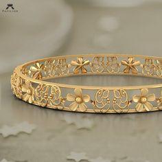 faithful ganesha floret bangle buy gold bangle online in india Gold Bangles Design, Gold Jewellery Design, Gold Jewelry, Jewelry Necklaces, Fine Jewelry, Designer Bangles, Handmade Jewellery, Gold Necklace, Jewelry Making