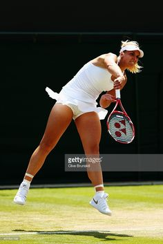 Sabine Lisicki at Tennis Championships in Wimbledon Sabine Lisicki, Girls Golf, Ladies Golf, Wimbledon, Sport Tennis, Lawn Tennis, Steffi Graf, Foto Sport, Athletic Events