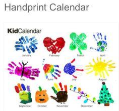 Handprint calendar!  Great gift idea for the parents!