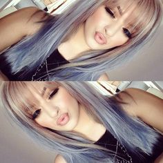 Pastel ombré - smoked amethyst and ocean storm (instamatic colors by wella) Pinterest: Annevxo