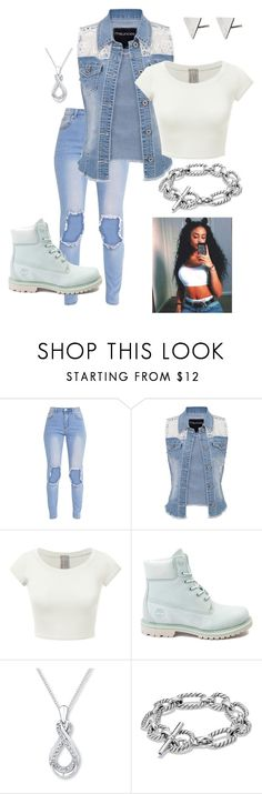 """""""Team Country white"""" by rayonna-ray ❤ liked on Polyvore featuring maurices, Timberland, David Yurman, Rachel Jackson and country"""