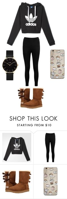 lazy day out by raelyn-goodwin on Polyvore featuring adidas, Boohoo, UGG and CLUSE