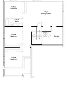 Our house's basement! We are very excited to have all the extra space! Avignon Ivory Homes Floor Plan - Basement Level