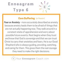 Each Enneagram type has a particular suffering that pulls at them. It is important to know and ask Christ to free us from that so we can be more free to love Him and bless others. How has your suffering (passion) affected you and how has the gospel helped to free you from your suffering? Brag on Christ's work in your life by commenting below so others can see.  Beth McCord YourEnneagramCoach.com  Enneagram Personality typology