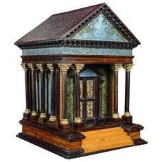 C, Little Roman Temple with Secret Opening Systems by Molnard ~ the closeup detail shots of this are exquisite Ancient Architecture, Interior Architecture, Art Decor, Decoration, Arch Model, Small Wood Projects, Boxes For Sale, Wooden Jewelry Boxes, Grand Tour