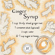Ginger is a great herbal ally that should be part of every herbalist's medicine cabinet. We're sharing how to make delicious ginger syrup! Ginger Syrup, Ginger Juice, Natural Medicine, Herbal Medicine, Herbal Remedies, Home Remedies, Health Remedies, Herbal Magic, Salud Natural