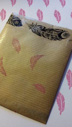 Set de plumes en papier à semer par RosedeBiboun sur Etsy