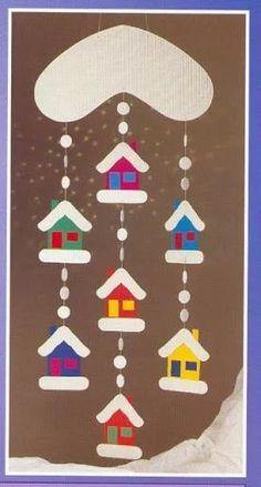 Fotografie, Fotografie, per bambini Winter Art Projects, Winter Crafts For Kids, Art For Kids, Winter Christmas, Kids Christmas, Xmas Crafts, Diy And Crafts, Theme Noel, Christmas Decorations