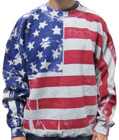 American Flag Crew Neck Sweatshirt