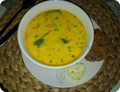 Thaisuppe med scampi