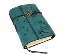 Twigs. Painted Journal Leather Notebook Diary