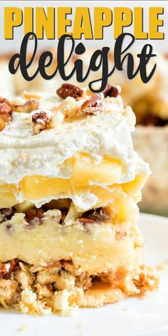 Light, fluffy, and sweet, the layers of this traditional Southern dessert will have friends begging for this favorite recipe. Southern Desserts, Cold Desserts, Summer Desserts, Easy Desserts, Delicious Desserts, Dessert Recipes, Summer Recipes, Easy Recipes, Cherry Pineapple Dump Cake