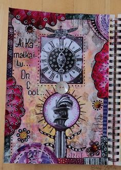 "Art Journal by *Silkku* ""Time Travel is cool"" silkkus.blogspot.fi"