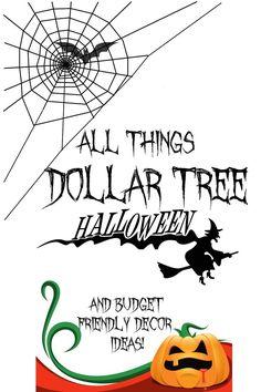 All things dollar tree Halloween  budget halloween diy #diy #halloween