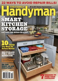 #THEFAMILYHANDYMAN - Top 10 Editor's Choice Best Home and Garden Magazines You Should Know ➤ To see more news about the Interior Design Magazines in the world visit us at www.interiordesignmagazines.eu #interiordesignmagazines #designmagazines #interiordesign @imagazines