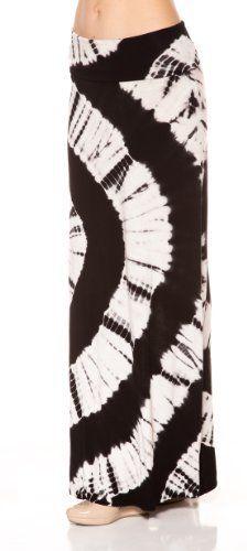 4a6f3e9e0 A.S Tie Dye Big Circle washed Lovely Drape Maxi Long Skirt-Black-Large  Apparel