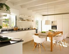 About MUTFAK On Pinterest White Kitchens Open Shelves And Kitchens