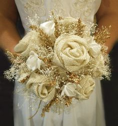 Bridal Bouquet- Love this. Don't spend so much on flowers when you can just make them.