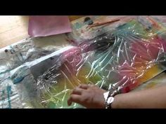▶ Glimmer Mists & plastic wrap Backgrounds Technique YouTube...needs more depth of color & more wrinkling, but u get the idea