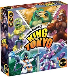 Amazon.com: IELLO King of Tokyo: New Edition Board Game: Toys & Games Fun Board Games, Fun Games, Games For Kids, Games To Play, Family Game Night, Family Games, Tokyo Ville, Monster Board, Garfield
