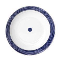 Royal Limoges Blue Star Round Cake Platter