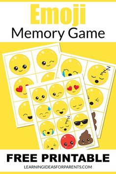 Memory Games For Kids, Matching Games, Educational Activities, Book Lists, Free Games, Emoji, Free Printables, Have Fun, Parents