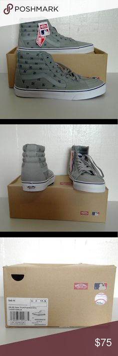 NWT Vans Men's New York Yankees SK8-Hi (MLB) Show your team spirit and support your team.  Go Yankees!!! Vans Shoes Sneakers