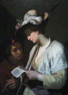 Shepherdess Reading (1628).Abraham Bloemaert (Dutch, 1564-1651).Oil on canvas.Toledo Museum of Art.