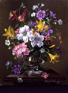 Альберт Вильямс (Albert Williams) в основном специализируется на цветочной живописи, работает маслом. Он родился в Сассексе 20 марта 1922. Его отец и дед были художниками. Изучив живопись с ними, Альберт Вильямс продолжил обучение в художественных школах Лондона и Парижа. Альберт рисует каждый день, особенно во время сезона, который простирается от весны до поздней осени.