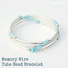Memory Wire Tube DIY Bracelet