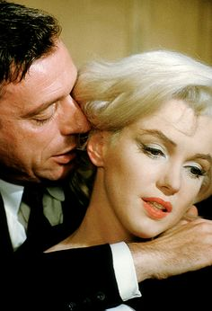 "Yves Montand and Marilyn Monroe in ""Let's Make Love"", 1960."
