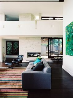 need to find a carpet like this one.  except for the size, this could be our place :)