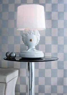 e0ef0d3b1dbd The Clown Table Lamp - дизайнерская настольная лампа в виде клоуна. Белый  светильник. Классический. «