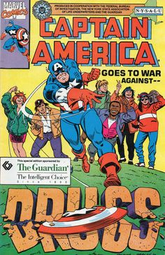 """At Nancy Reagan's behest, Captain America became a spokesperson for the """"Just…"""