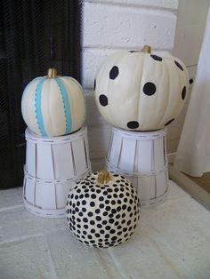 My Third True Love: Painted pumpkins Seasonal Decor, Fall Decor, Take The Fall, Painted Pumpkins, Fall Crafts, Halloween Pumpkins, True Love, Holiday Ideas, Madness