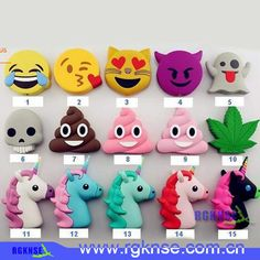 Wholesale cheap cartoon power bank online, brand - Find best emoji chargers powerbank soft pvc unicorn poop devil horse skull power bank smart phone charger with box at discount prices from Chinese other batteries