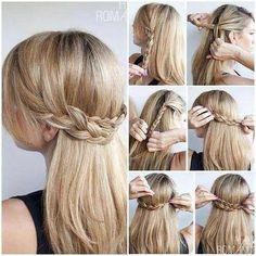 Half up braids hairstyle