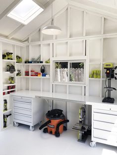 craft shed interior ideas / craft shed . craft shed ideas . craft shed interior . craft shed interior ideas . craft shed layout . craft shed organization . craft shed ideas woman cave . craft shed ideas interiors Tool Shed Organizing, Storage Shed Organization, Storage Ideas, Storage Shed Decorating Ideas, Shed Storage Shelves, Lumber Storage, Small Storage, Tool Storage, Decorating Tips