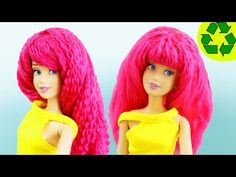 How to Make a DOLL WIG - Easy Doll Crafts - YouTube
